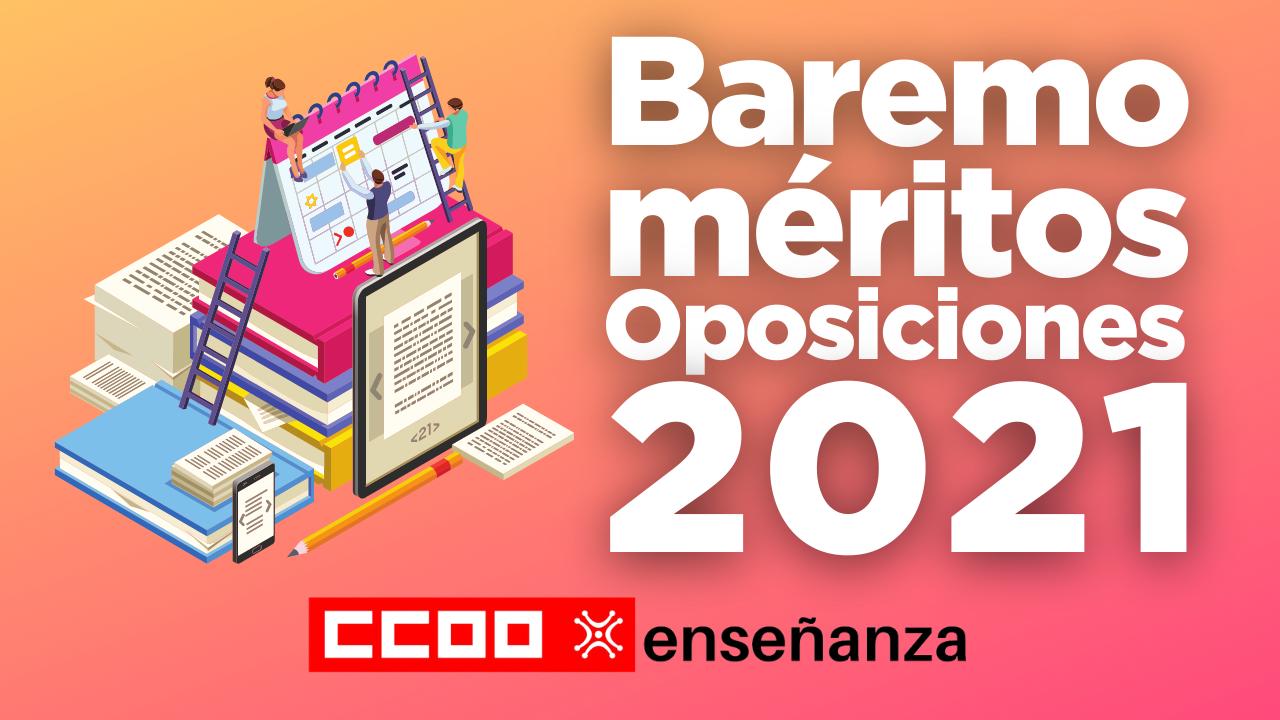 Baremo provisional de méritos Oposiciones 2021