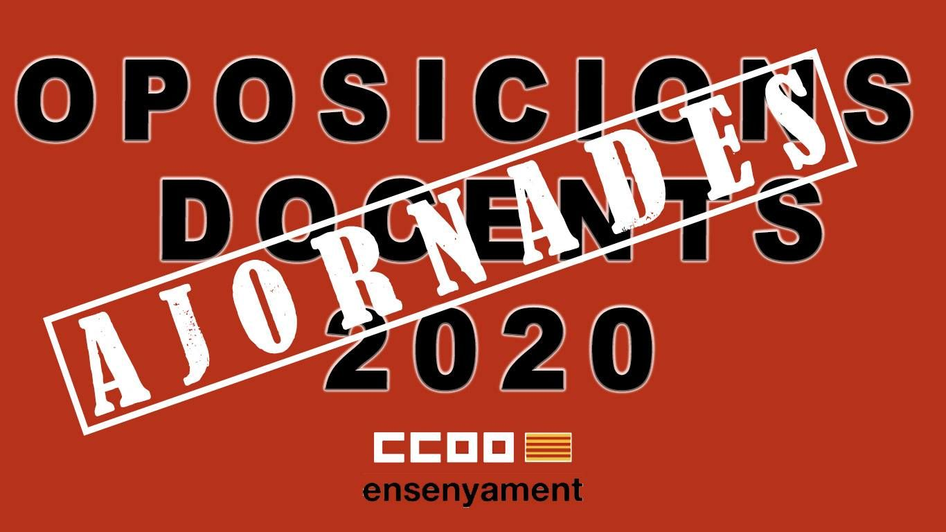 Ajornades les oposicions docents de 2020 a les Illes Balears (12/04/2020)