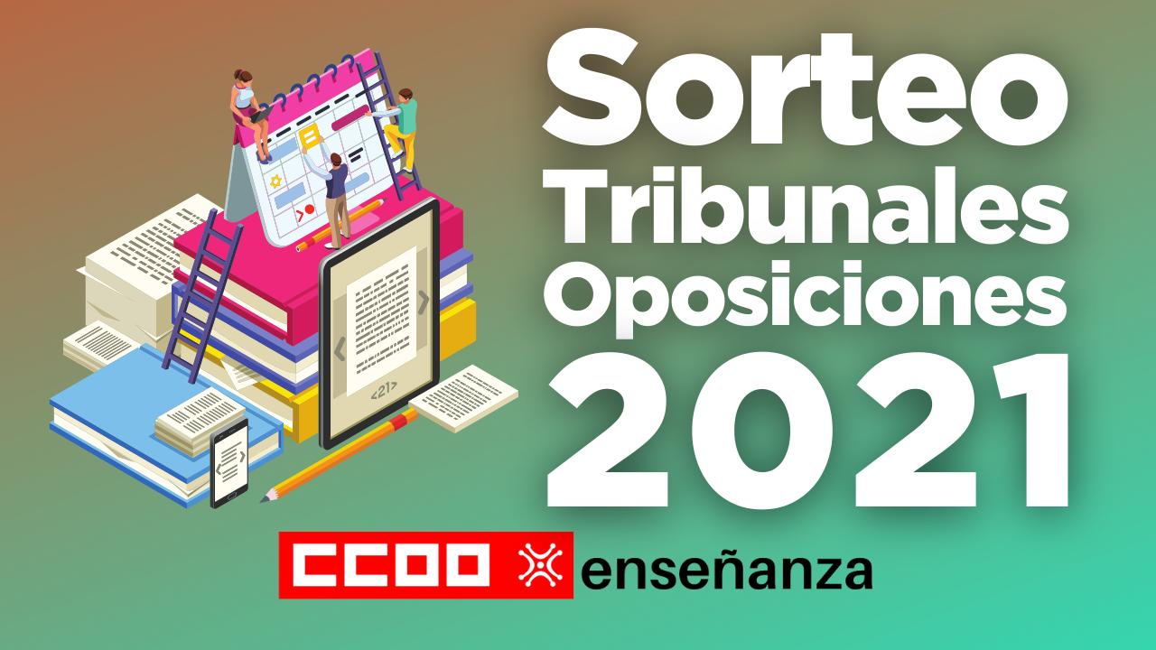 Sorteo para la composición de tribunales Oposiciones 2021