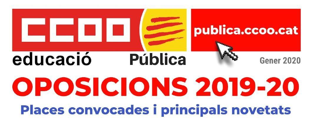 Oposicions 2019-2020 distribució de places i principals novetats (12/04/2020)